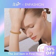 ENFASHION brazalete de cadena de enlace Punk para mujer, brazaletes para mujer, accesorios, pulsera de Color dorado, regalos de joyería B192018