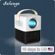 Портативный проектор Salange P50W, Full HD 1080P, Поддержка Android, Wi-Fi, светодиодный домашний кинотеатр, совместимый с USB, HDMI, AV