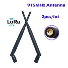 915MHz Antena de 5dbi Omni-Direcional SMA conector 2 pçs/lote 915mhz para o Módulo sem fio zigbee sistema de porta-way nó NIÓBI LORAWAN