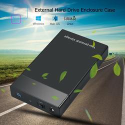 VKTECH USB 3.0 do 3.5 cal SATA III 5 gb/s zewnętrzny dysk twardy Ehclosure przypadku ze wskaźnikiem LED dla Laptop pulpitu gorąca