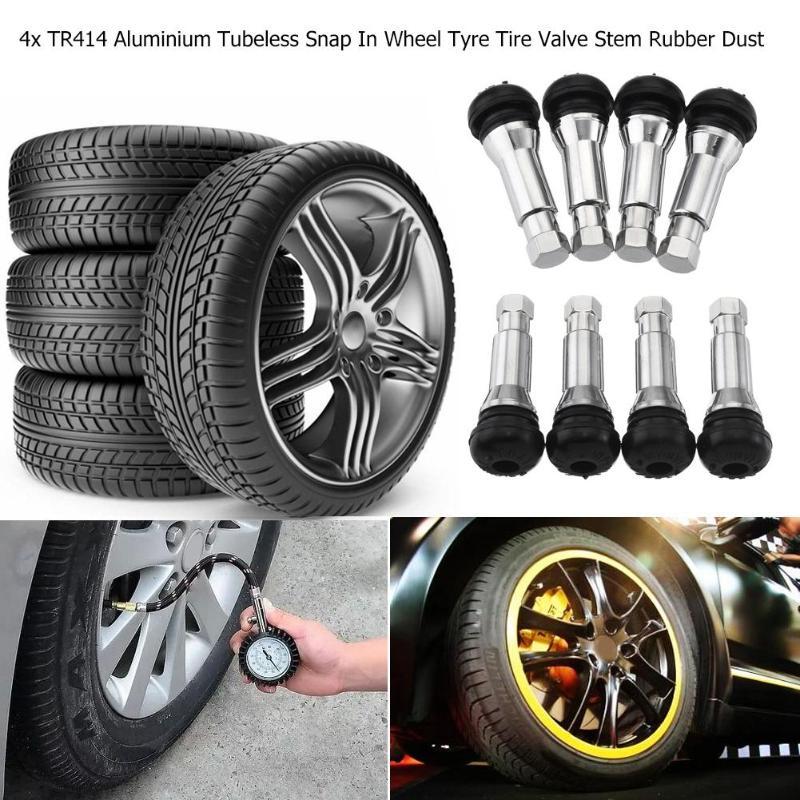 4x Auto Car Wheel Tire Chrome Aluminum Air Valve Stem Dust Cap Cover Accessories