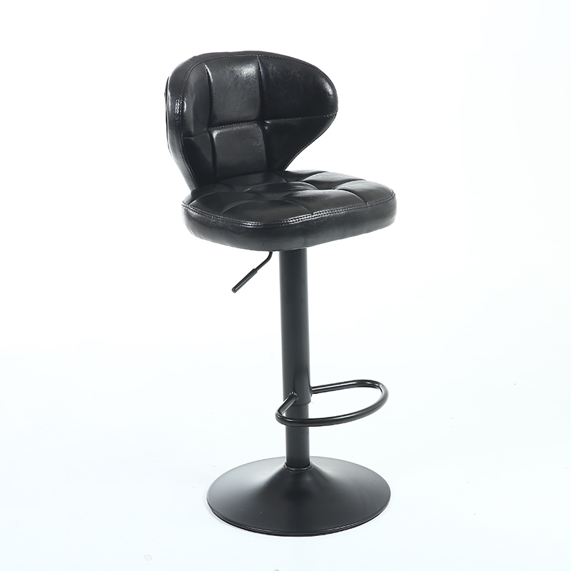 European-style Retro Home Bar Chair High Stool   Lift Rotary   Iron Swivel  Front Backrest