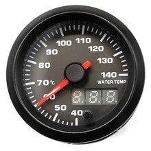 52mm2-дюймовый термометр для воды 40~ 140 ℃ с датчиком 12V гоночный автомобиль модифицированный 7 цветов светодиодный дисплей с двойной подсветкой
