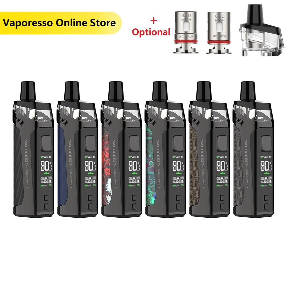 New Vaporesso TARGET PM80 Pod System Kit With 2000mAh Battery & 4ml Pod & Sub-ohm DL Vaping Mod Vape Kit Vs Vinci X/ Aegis Boost