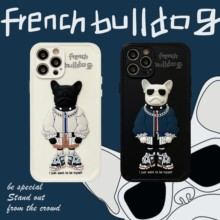 3D French Bulldog Case For iPhone 11 12 Pro Max Mini 7 8 Plus XR X XS MAX Pitbull Fashion Trend Creative Minimalism Couple Cover