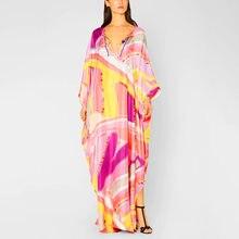 Женское платье с рукавом летучая мышь gediveon разноцветное