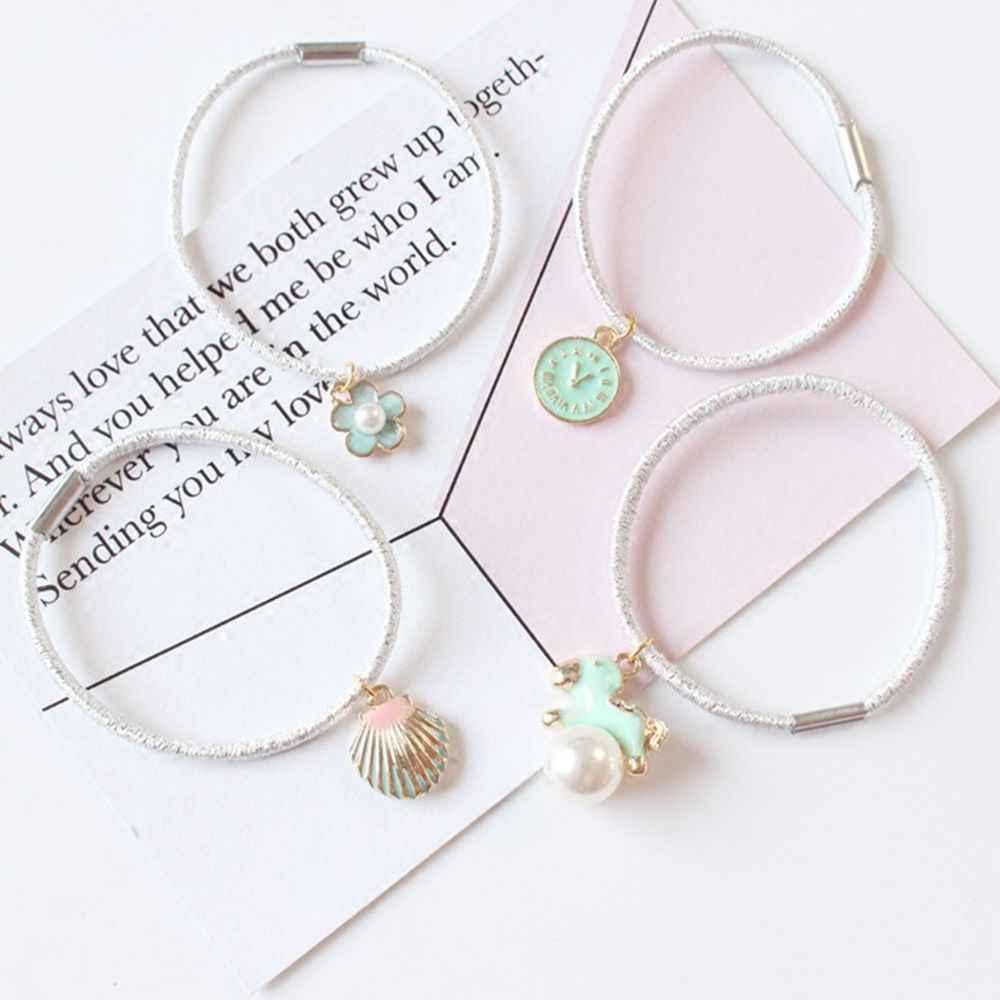 Nette Mint Grün Serie Anhänger Pin Elastische Haar Band Frauen Ring Seil Krawatte Mädchen Haarnadeln Haar Clip Hair Haar Zubehör