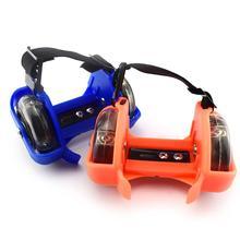1 пара дети дети открытый регулируемый светодиодный мигающий колесо пятка коньки ролики регулируемый простой прочный для открытый катание на коньках обувь