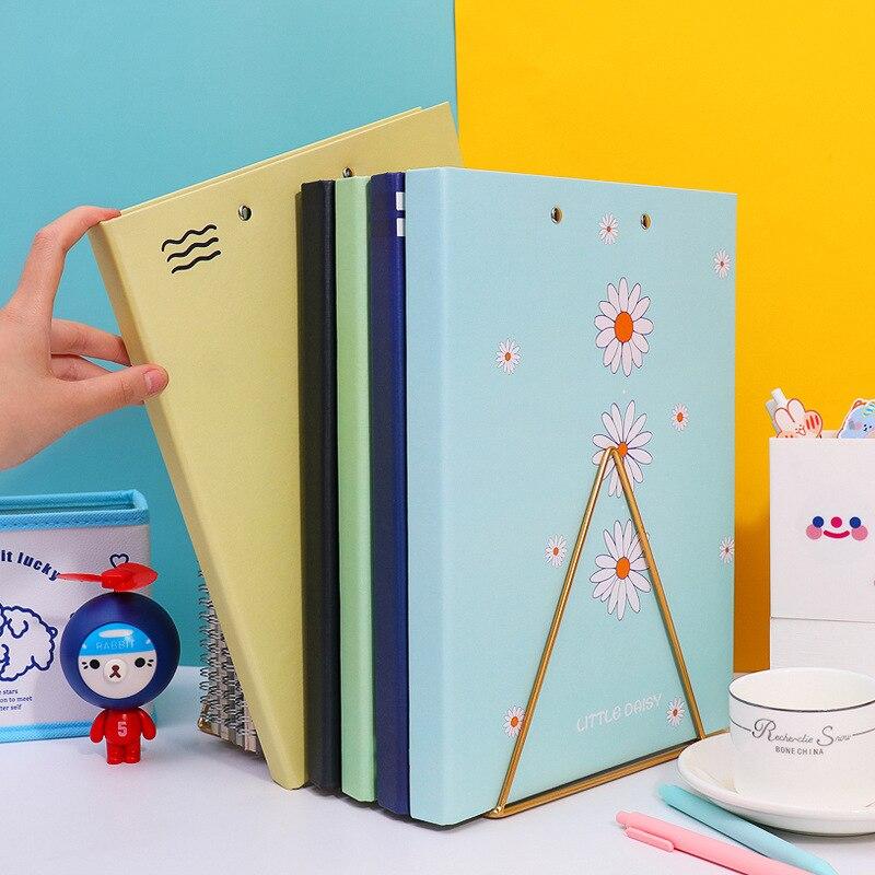Kawaii A4 Folder Double Clip Power Clip Multi-layer Board Clip Information Book File Bag Test Paper Clip Storage Box
