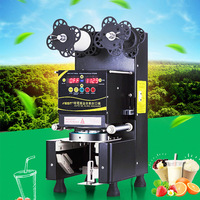 Electricl Plastic Cup Sealing Machine Automatic Cup Packing Sealer Commercial Bubble Tea Coffee pressure Cup lid Sealer