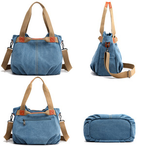 Image 5 - Winter Style Women Canvas Bag Ladies Hand Crossbody Bags For Women High Quality Female Panelled Hobos Shoulder Bag Totes Bolsas