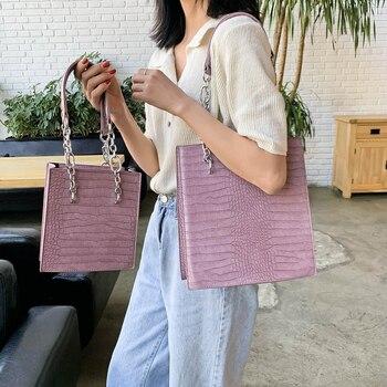 Large Capacity Women Handbags Vintage Alligator Pattern Shoulder Bags Female Tote Bag Ladies Design Big Small Handbag Travel Bag