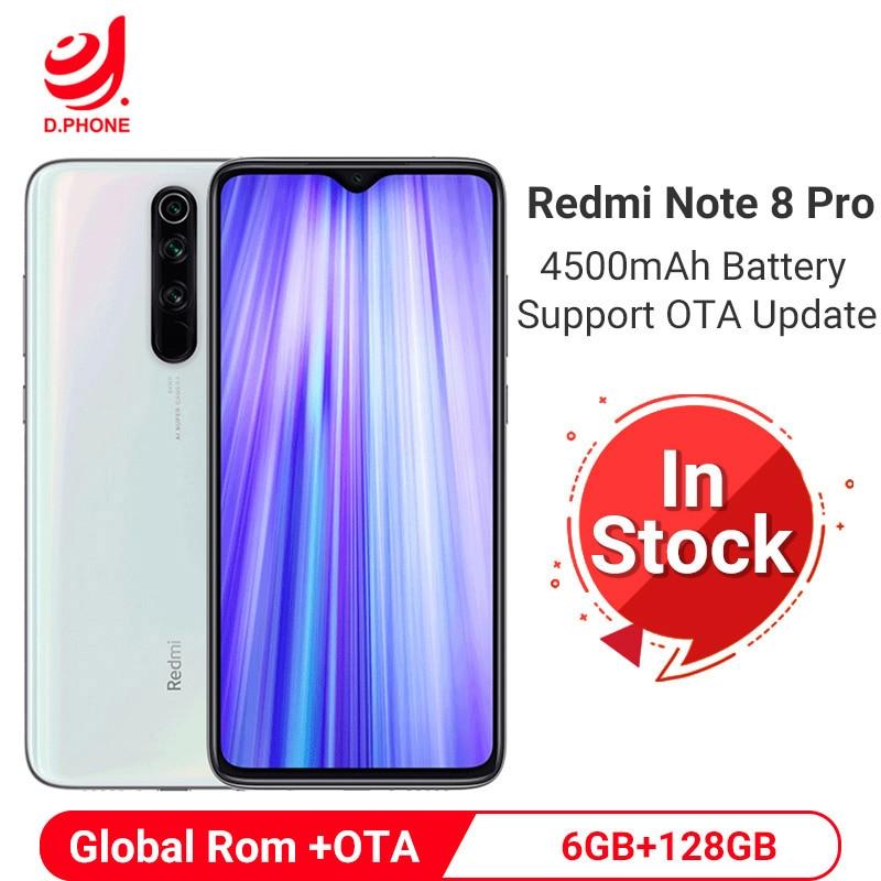 Купить Xiaomi Redmi Note 8 Pro телефон смартфон 6GB 128GB мобильный телефон 64MP Quad камера 4500mAh смартфон MTK Helio G90T Восьмиядерный мобильный телефон смартфоны телефон... на Алиэкспресс