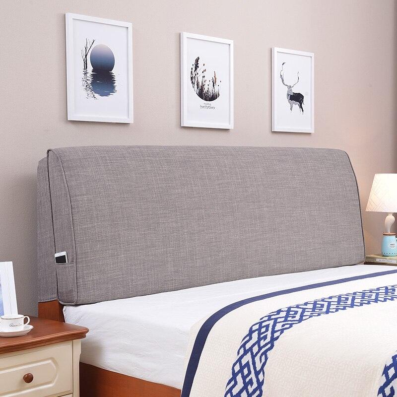 Мягкая ткань скандинавских татами, чехол для кровати, все включено, изогнутая спинка для кровати, твердая древесина, двойная головка, подушк