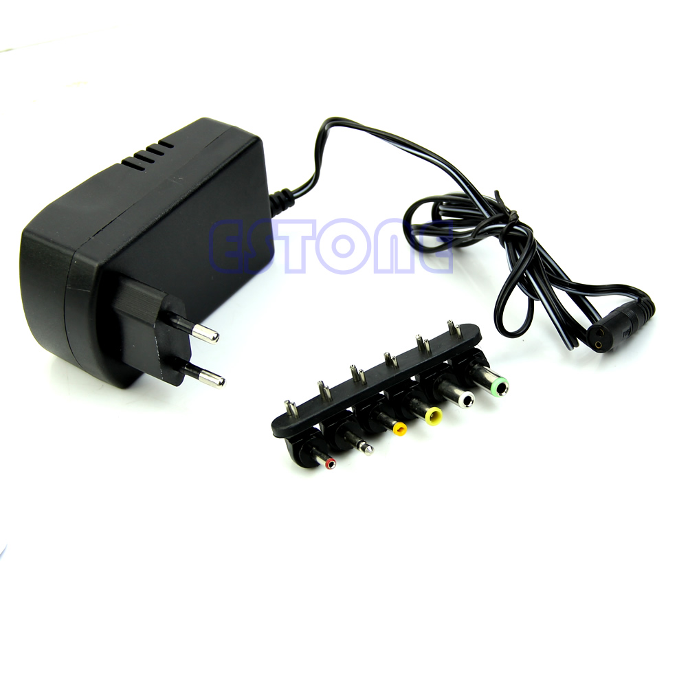 Universal EU AC/<font><b>DC</b></font> Adaptor Plug Power Supply 3V <font><b>4.5V</b></font> 5V 6V 7.5V 12V <font><b>DC</b></font> Charger image
