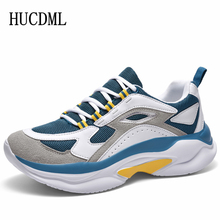 Men Shoes Platform-Sneakers Trainers Support Height-Increasing Male New HUCDML 5CM Thick