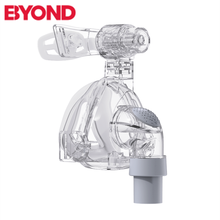 BYOND CPAP Nasal Mask With  Headgear Silicon Gel Cushions For Breathing Machine VentSleep Apnea OSAHS OSAS Snoring People
