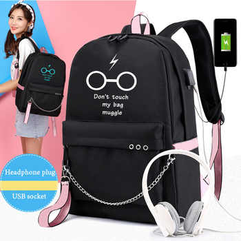 IMIDO Lumious Students Backpacks Women Personality Usb Charging Candy Color Girl Travel Bags Teenagers Canvas Fashion Schoolbags - DISCOUNT ITEM  48 OFF Luggage & Bags