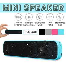 цена на Portable Mini Wireless bluetooth Speaker 10W Stereo Waterproof Outdoor Dual Speakers Subwoofer Soundbar with Mic