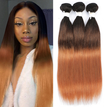 Brazilian Straight Human Hair Bundles Ombre Brown 1B/4/30 Human Hair Weave Bundles Remy Hair 1/3/4 Bundle Deals KEMY