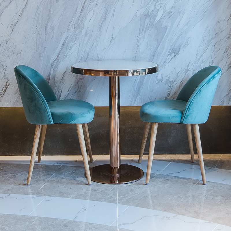 Shop And Chairs Group Combine Concise Leisure Time Cafe Tables And Chairs Northern Europe Fresh Dessert Shop Tables And Chairs