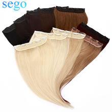 Заколка для волос sego 16 22 дюйма 80 100 г цельный зажим 100%