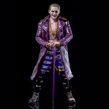 Cosplay Costume Jacket Joker Jared Leto Halloween Party Purple Women Outfit Faux-Leather