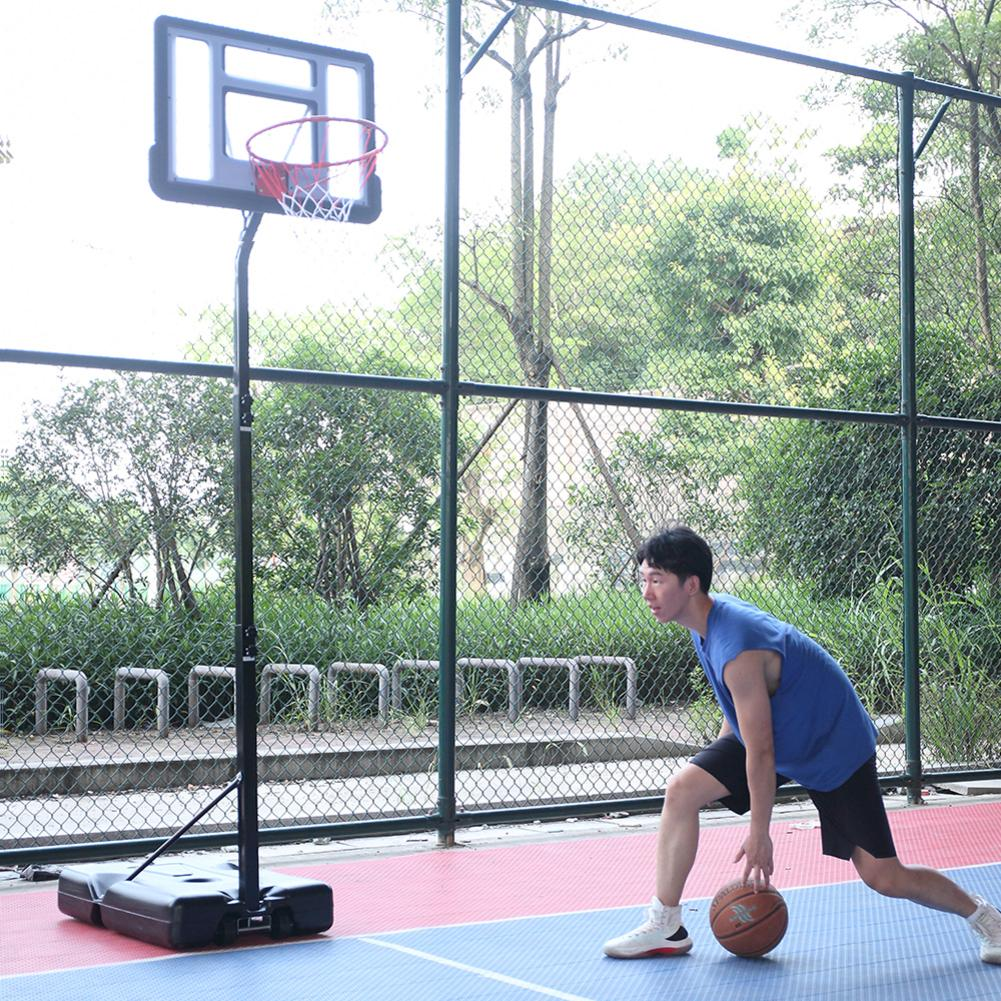 HY-B07S Portable Removable Basketball Stand System Basketball Hoop Teenager PVC Transparent Backboard With 2.1m-2.6m Adjustable
