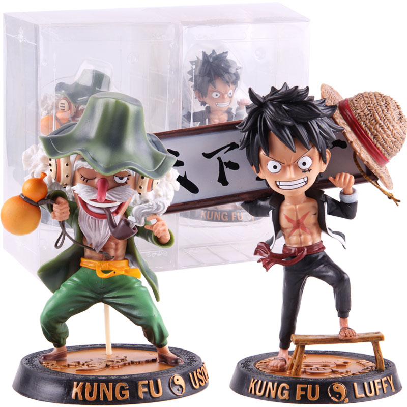 Anime One Piece Kung Fu Luffy Usopp Figures PVC Action Figure Collectible Model Toy