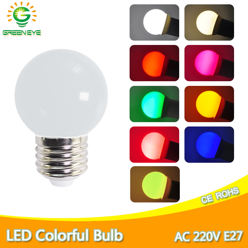 Led Bulb Lamp Bomlillas E27 3W Colorful Lampada Ampoule RGB Led Light AC 220V  SMD 2835 Flashlight G45 Globe Bulbs Home Decor