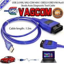 Mais novo VAG-COM 409.1 vag com 409com vag 409.1 kkl obd2 usb cabo de diagnóstico scanner interface para vw audi seat volkswagen skoda