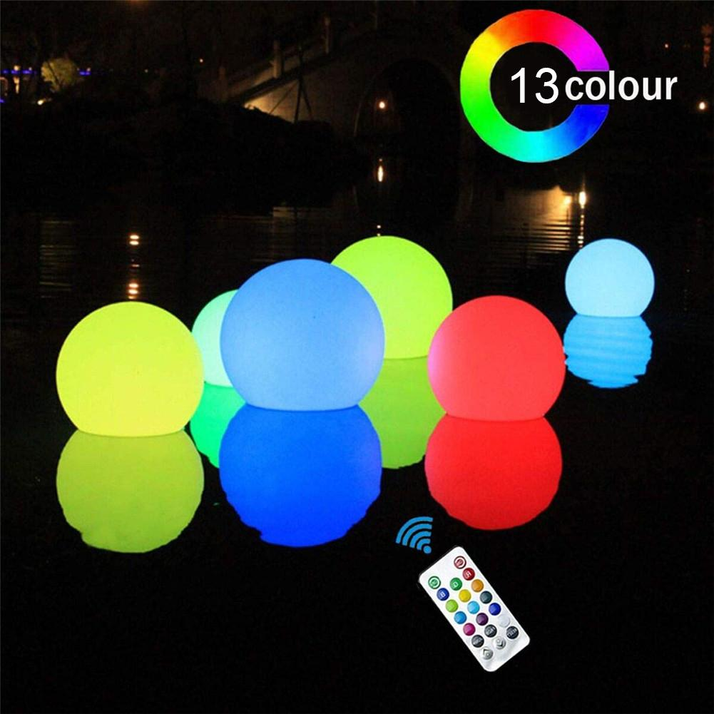 15.7 Inch LED Light Ball Inflatable Growing Ball Remote Control Colorful Flash Beach Ball For Swimming Pool Party Decoration
