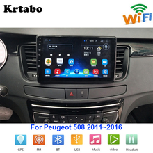 Car radio Android multimedia player For Peugeot 508 2011~2016 Car touch screen GPS Navigation Support Carplay Bluetooth