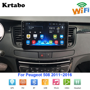 Image 1 - Car radio Android multimedia player For Peugeot 508 2011~2016 Car touch screen GPS Navigation Support Carplay Bluetooth
