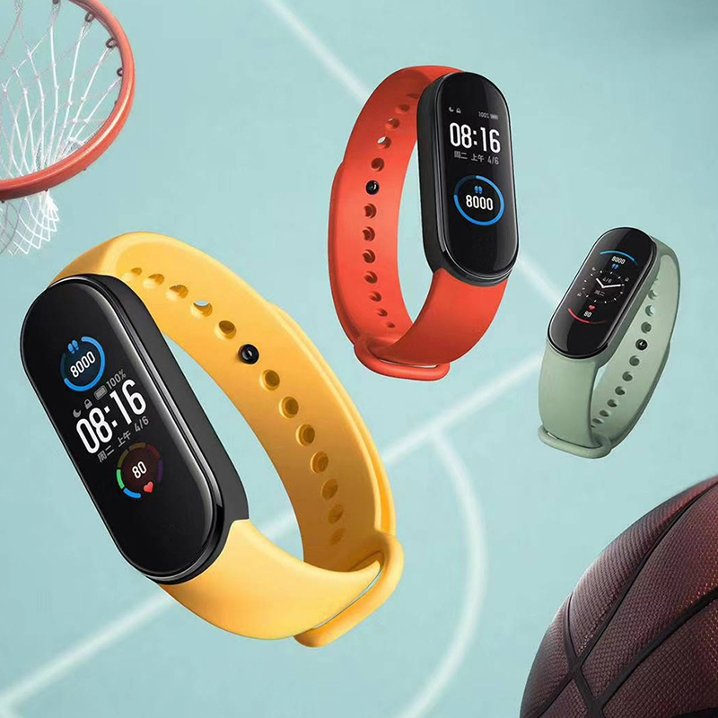 Xiaomi Mi Band 5 Smart Armband 4 Kleur Amoled Screen Miband 5 Smartband Fitness Traker Bluetooth Sport Waterdichte Slimme Band 5