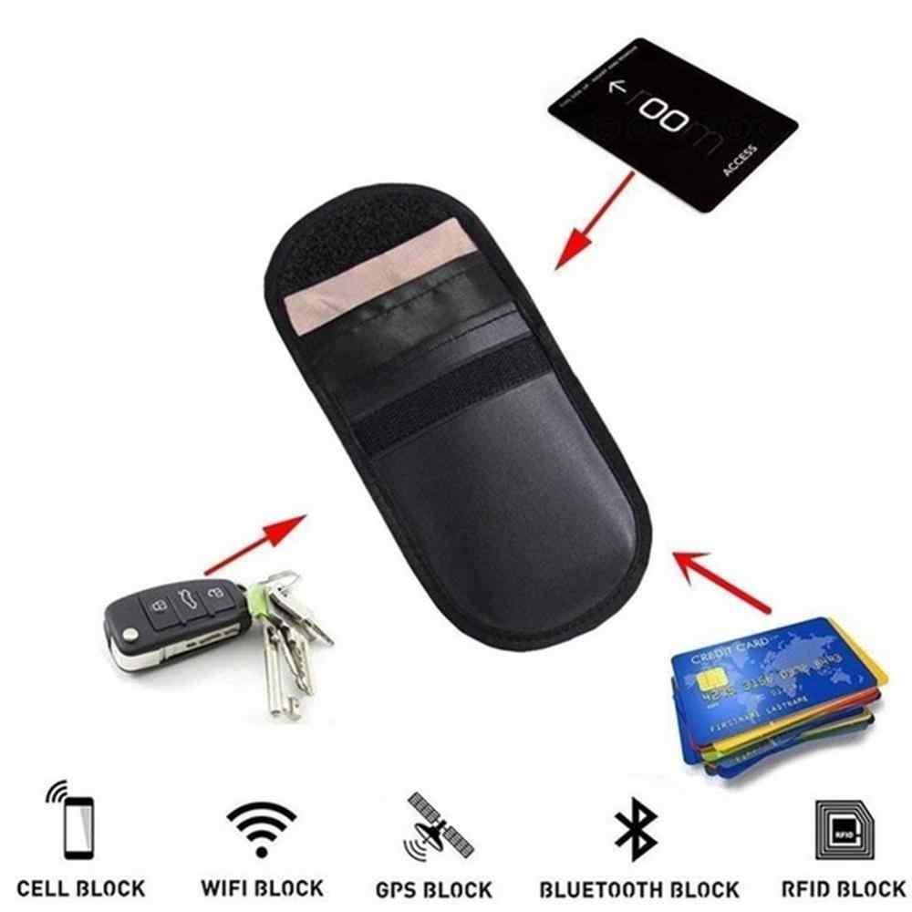 1 шт., Автомобильный ключ, сигнальный блок, чехол без ключа, брелок, защитный чехол для блокировки сигнала телефона, чехол, Противоугонный замок, протектор для устройства, сумка для стайлинга автомобиля