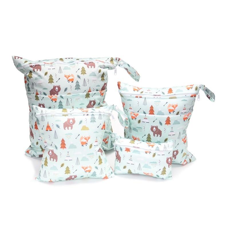 [CHOOEC] Combination 4-piece Set Wet Bag Washable Reusable Cloth Diaper Nappies Bags Waterproof Swim Sport Travel Carry Bag