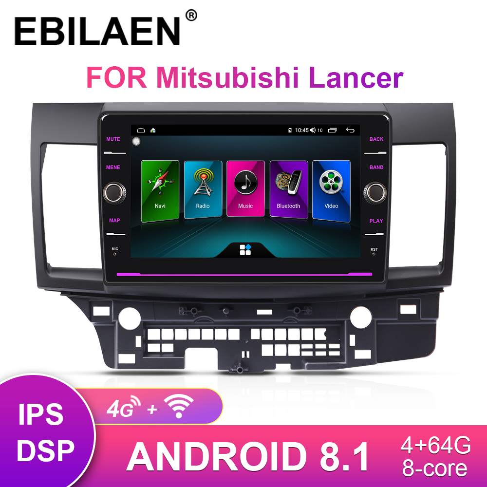 EBILAEN Car Radio Multimedia player For Mitsubishi Lancer X 2Din Android 8.1 Autoradio GPS Navigation Video Audio Player image