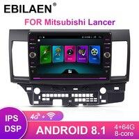EBILAEN Car Radio Multimedia player For Mitsubishi Lancer X 2Din Android 8.1 Autoradio GPS Navigation Video Audio Player