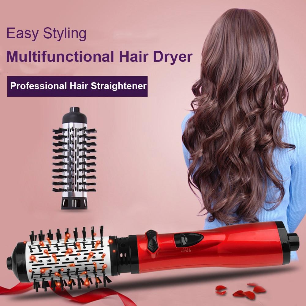 Hair Dryer Comb Rotating Hot Air Brush Professional Blow Dryer Hairdryer Multifunctional Hair Straightener Comb Curling Brush