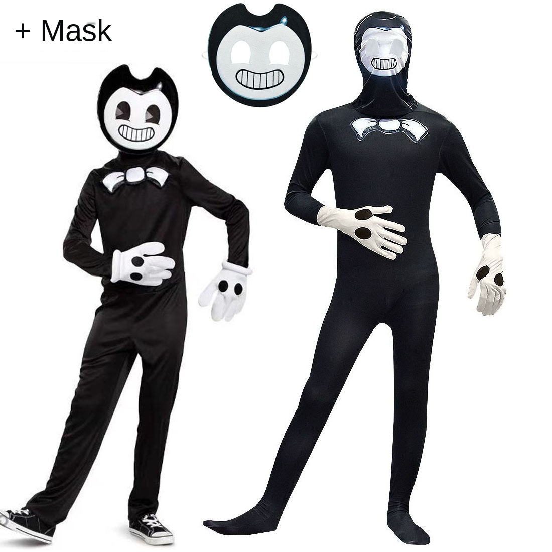 Halloween Cosplay Costumes Bendy And The Ink Machine Kids Teen Boys Jumpsuit Children Clothing Sets Christmas Role Play Party