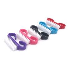 Poignée de brosse à ongles professionnelle en acrylique, nettoyage doux, élimine la poussière, outil de manucure et de pédicure, 10 pièces/lot