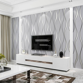 Suede Non-woven Fabric 3D Striped Wallpaper For Walls Roll Modern Living Room Sofa TV Background Home Wall Paper Papel De Parede papel de parede simple striped non woven wallpaper 3d solid suede bedroom living room hotel tv background wall modern wallpaper