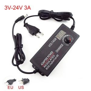 Источник питания, Регулируемый адаптер 3в-24в 3А, универсальный дисплей, экран питания, напряжение, импульсное зарядное устройство для светод...
