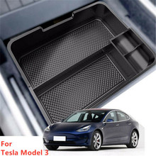 for tesla model 3 accessories car central armrest storage box auto container wallet phone glasses organizer case stowing tidying For Tesla Model 3 Accessories Car Central Armrest Storage Box Auto Container Wallet Phone Glasses Organizer Case Stowing Tidying
