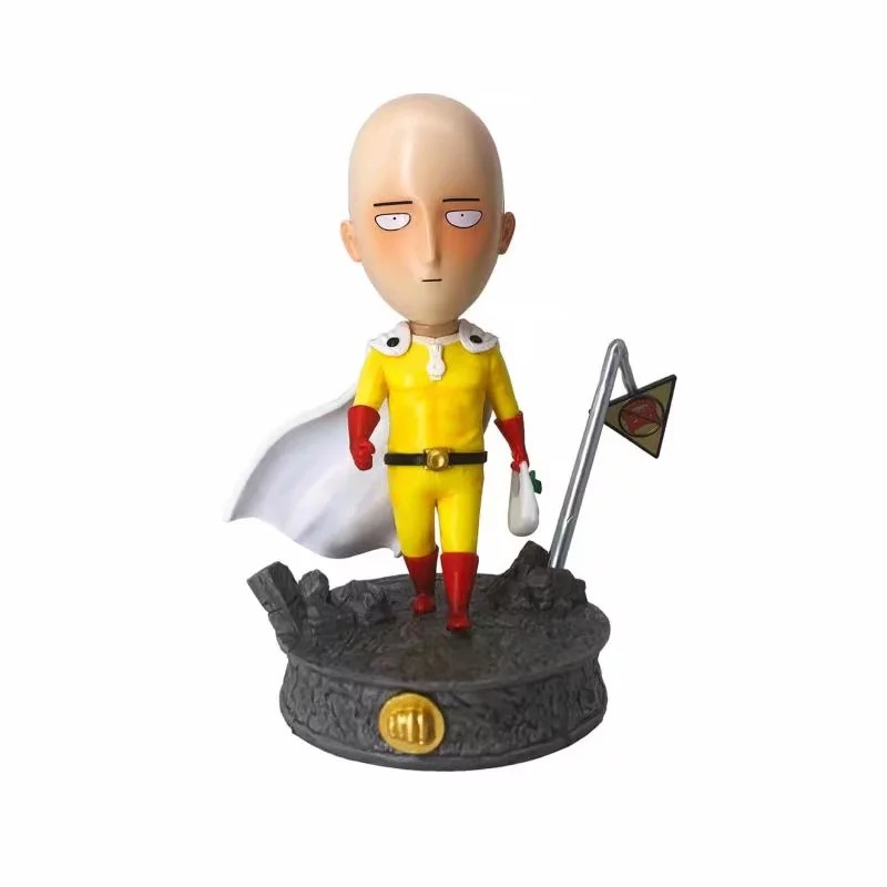 Anime One Punch Man Buy Vegetables Ver PVC Action Figure Collectible Model doll toy 18cm image
