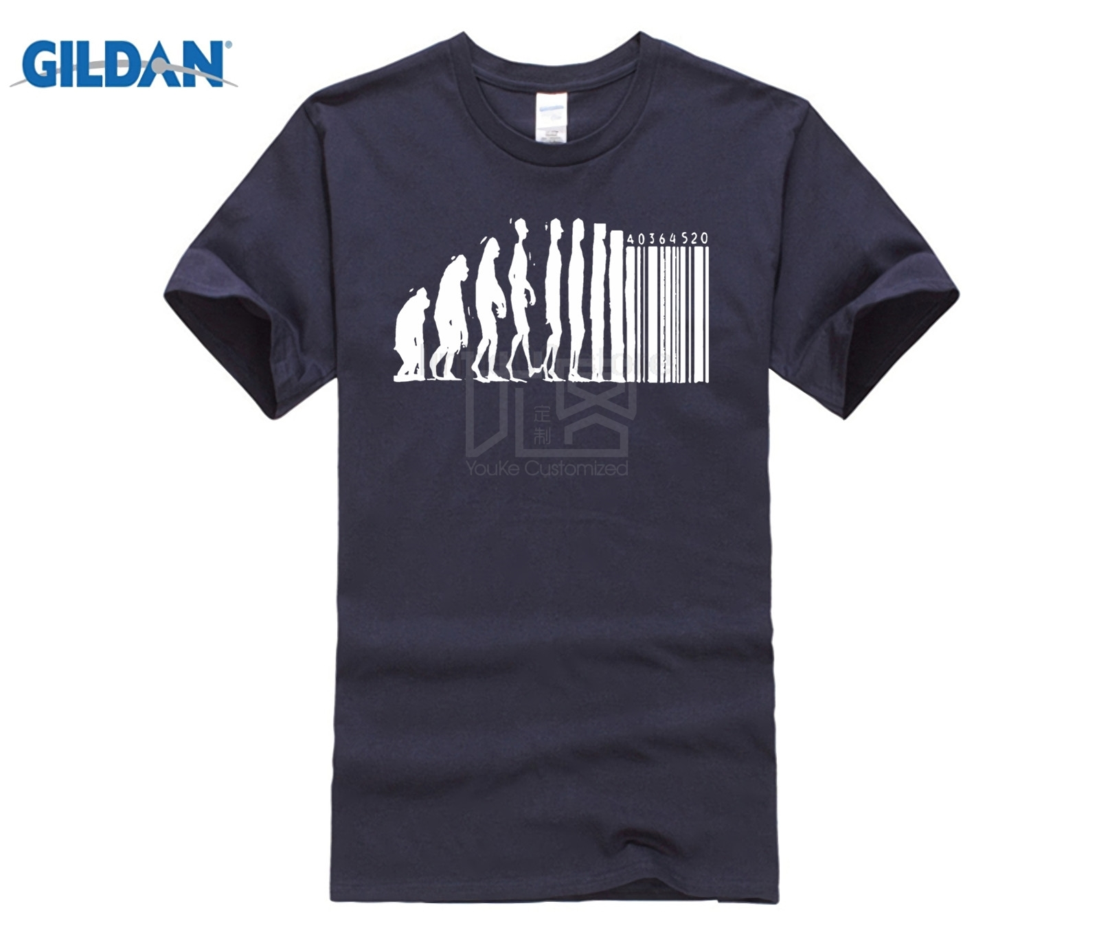 GILDAN T Shirts Human Evolution Banksy Mankind Monkey Barcode Capitalism Anarchy Tee shirt Design Website image