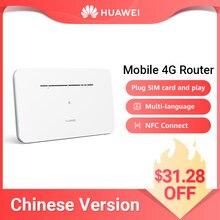 HUAWEI-enrutador móvil 4G LTE, enrutador con tarjeta SIM, punto de acceso NFC, conexión CPE de 2020 Mbps, multilenguaje, novedad de 300