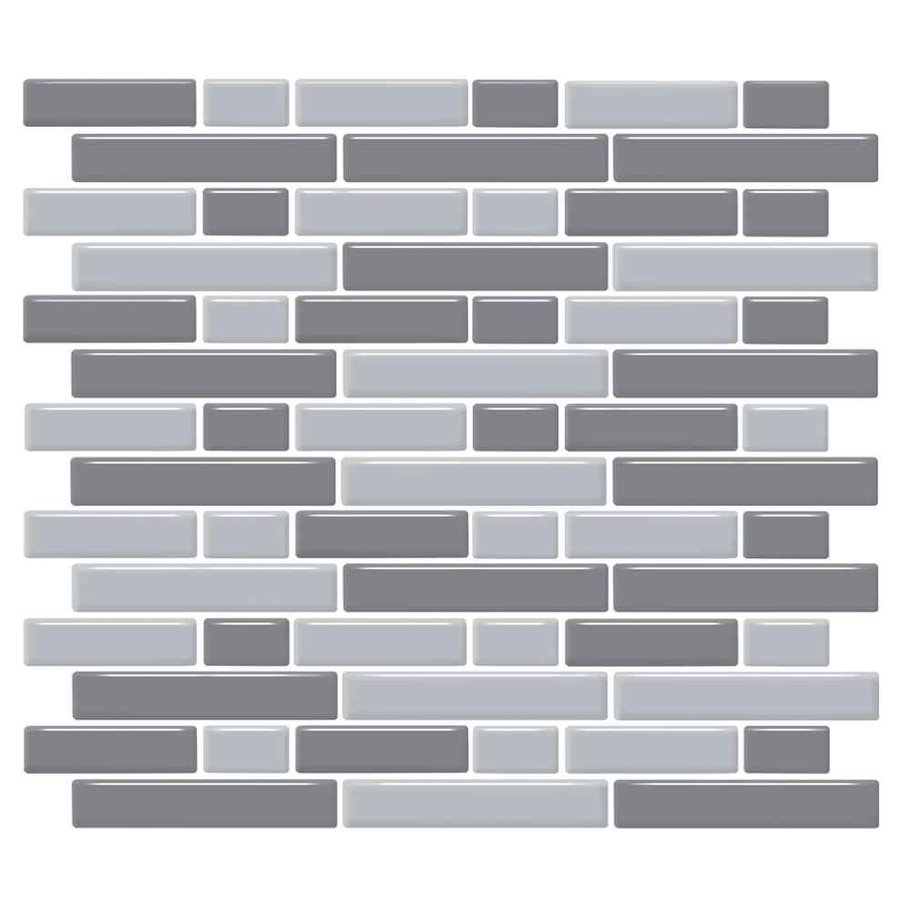 New Design Peel And Stick Backsplash Tile For Kitchen Faux Marble Stone Strip Backsplash Wallpapers Wall Stickers Aliexpress