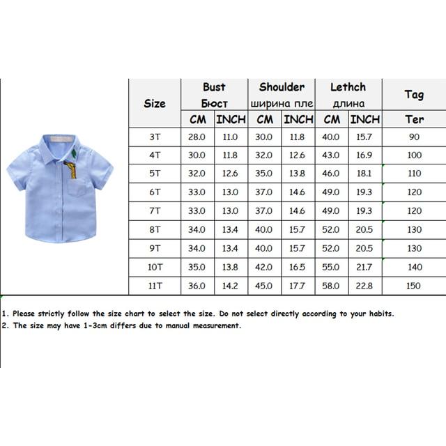 Boys' Short Sleeved Plain Polyester Shirt 6